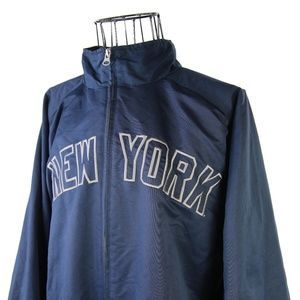 Vtg Adidas New York Yankees Embroidered Jacket